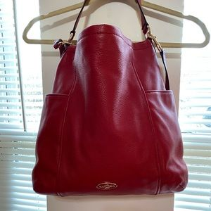 Coach leather classic red purse